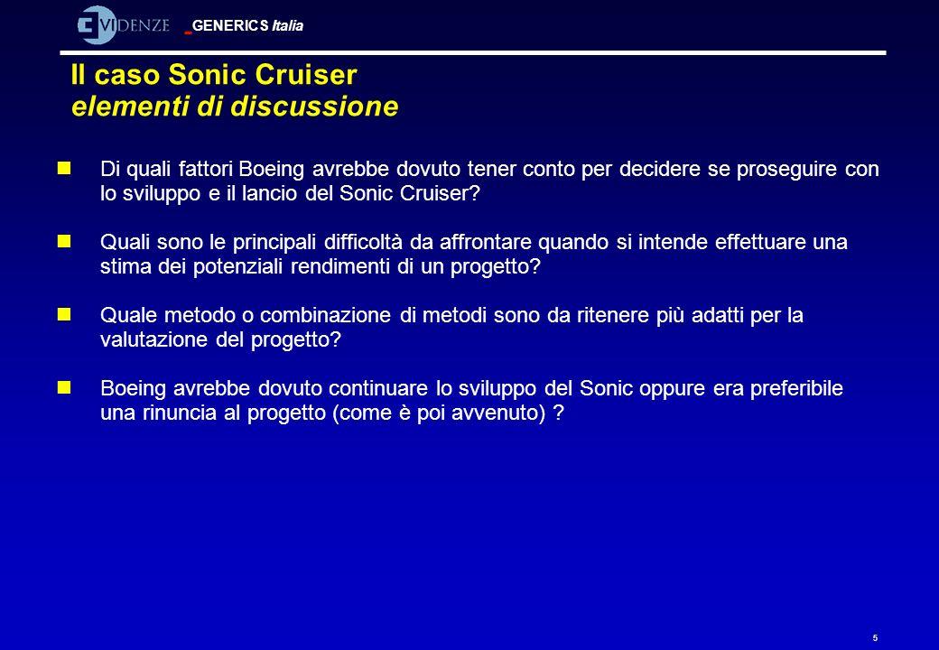 Il caso Sonic Cruiser elementi di discussione