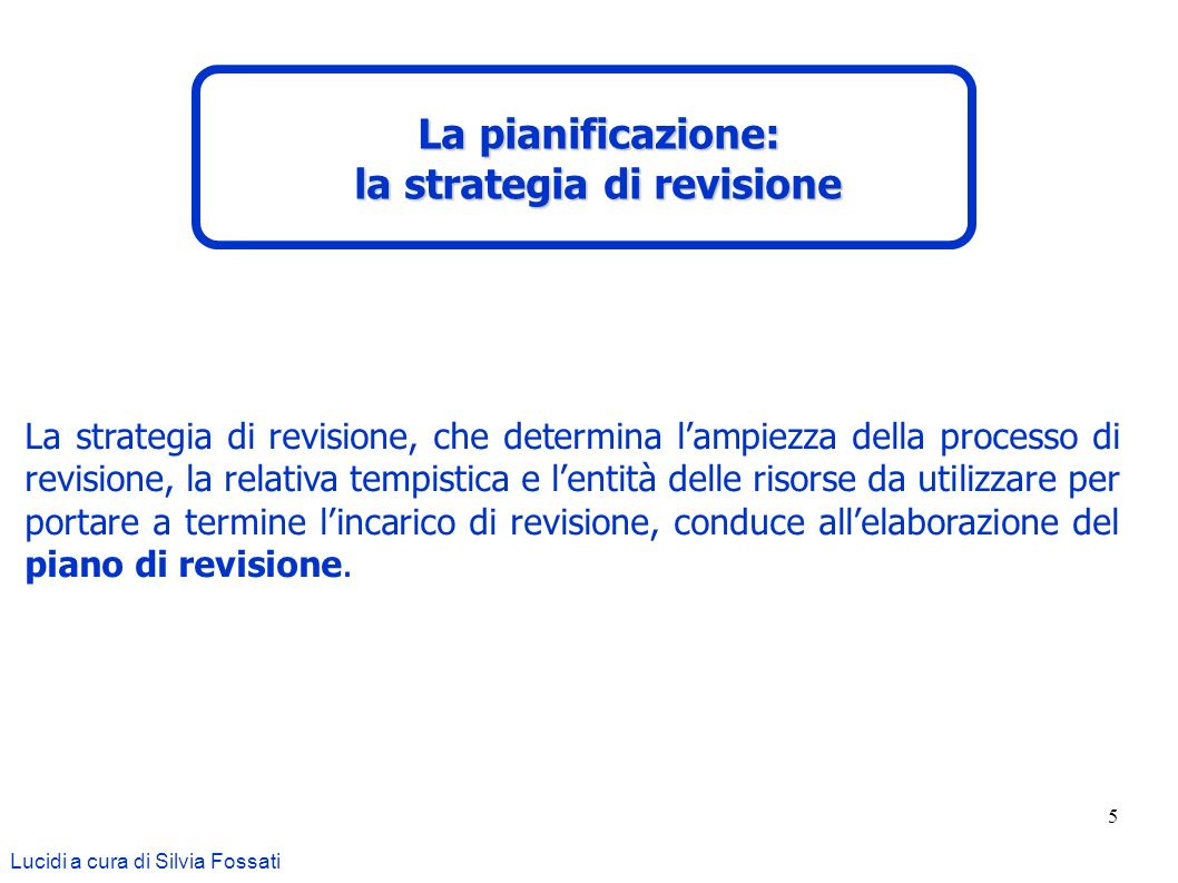 la strategia di revisione