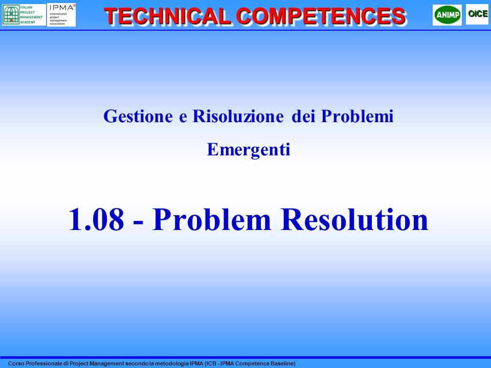 TECHNICAL COMPETENCES