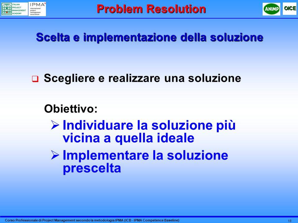 Scelta e implementazione della soluzione