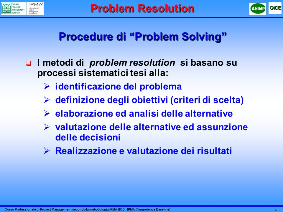 Procedure di Problem Solving