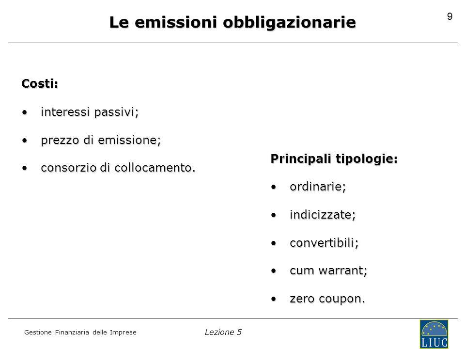 Le emissioni obbligazionarie