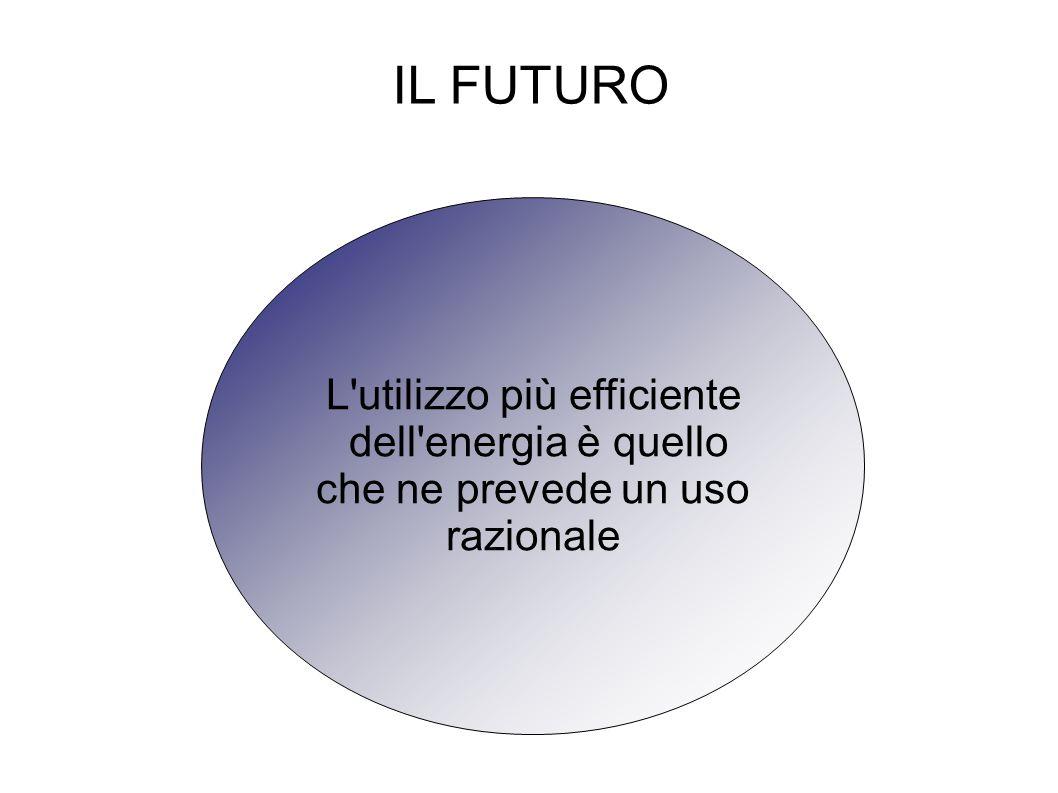 IL FUTURO L utilizzo più efficiente dell energia è quello