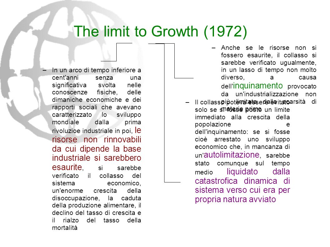The limit to Growth (1972)