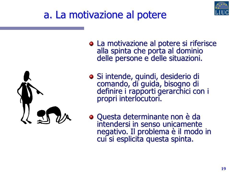 a. La motivazione al potere