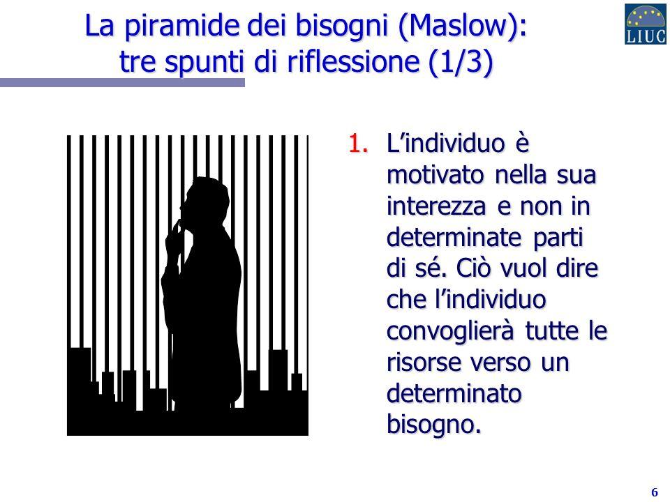 La piramide dei bisogni (Maslow): tre spunti di riflessione (1/3)