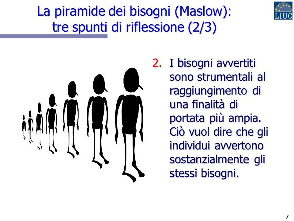 La piramide dei bisogni (Maslow): tre spunti di riflessione (2/3)