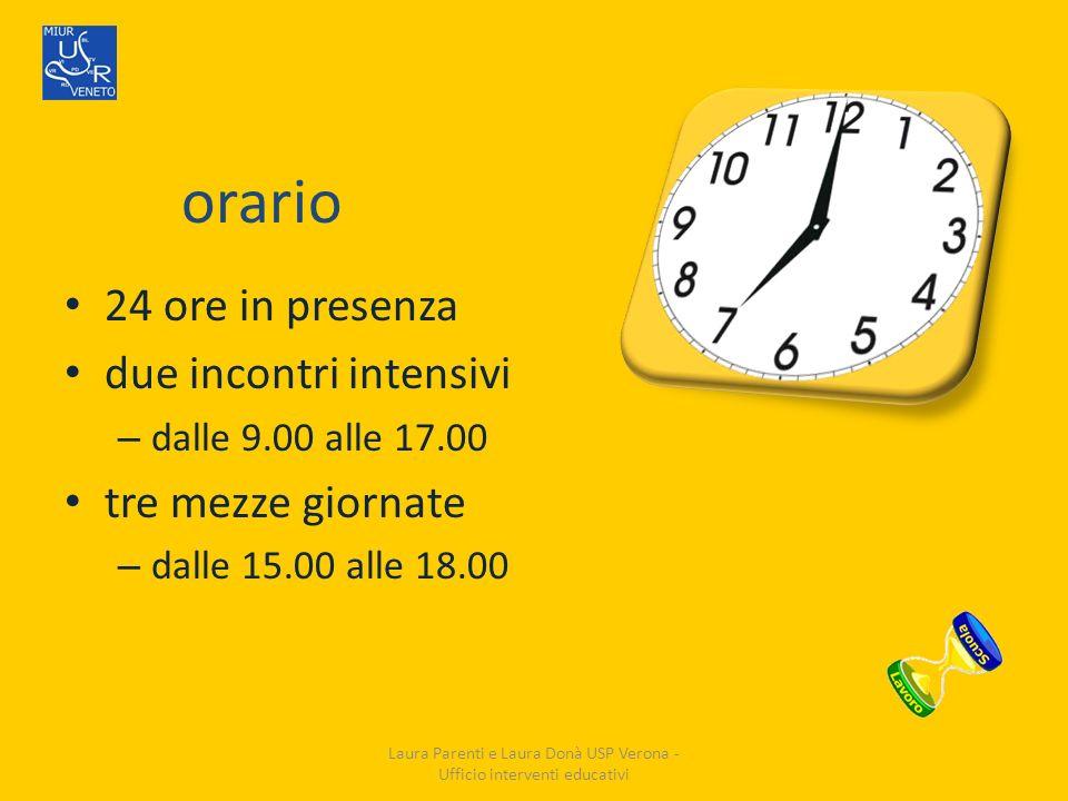 Laura Parenti e Laura Donà USP Verona - Ufficio interventi educativi