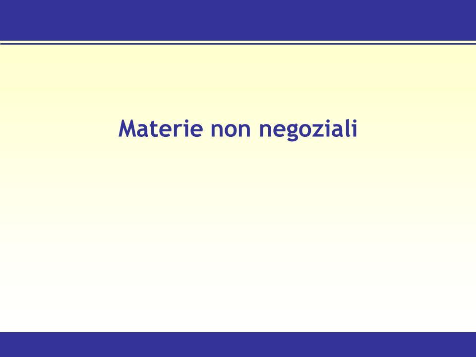 Materie non negoziali