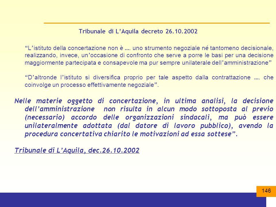 Tribunale di L'Aquila decreto 26.10.2002