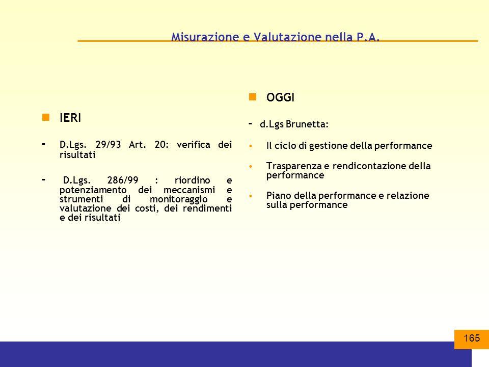Misurazione e Valutazione nella P.A.