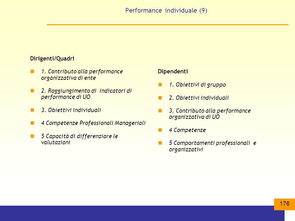 Performance individuale (9)