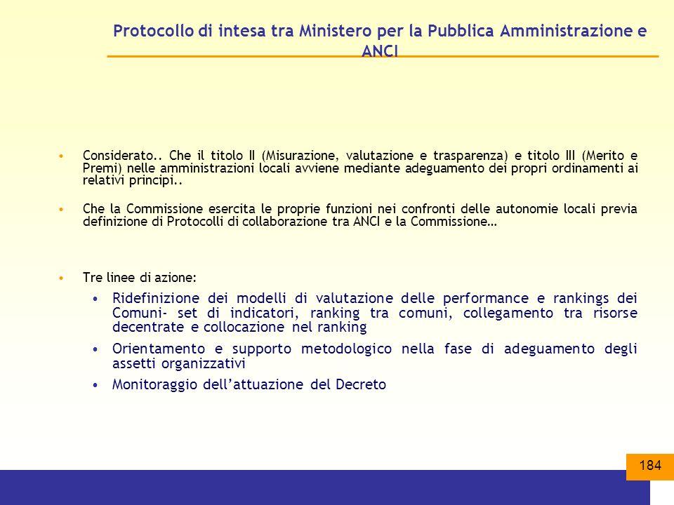 Protocollo di intesa tra Ministero per la Pubblica Amministrazione e ANCI