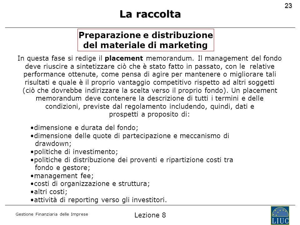 Preparazione e distribuzione del materiale di marketing