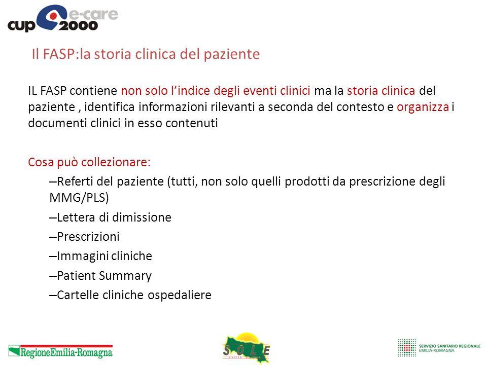 Il FASP:la storia clinica del paziente