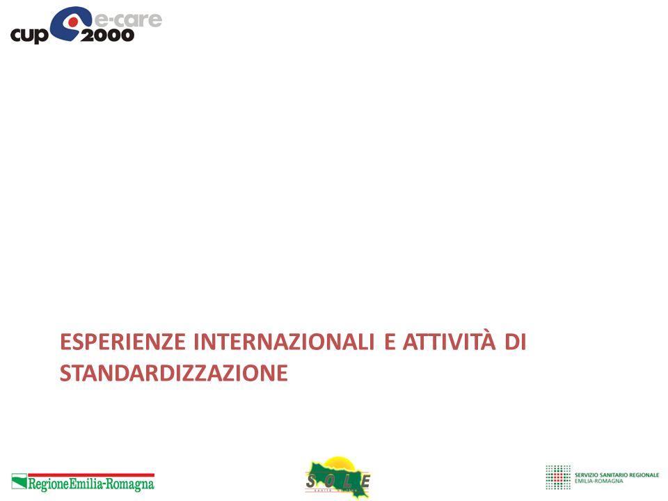 Esperienze internazionali e attività di standardizzazione