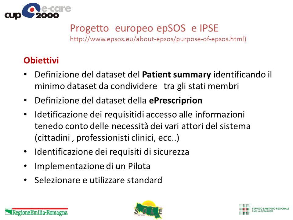 Progetto europeo epSOS e IPSE http://www. epsos