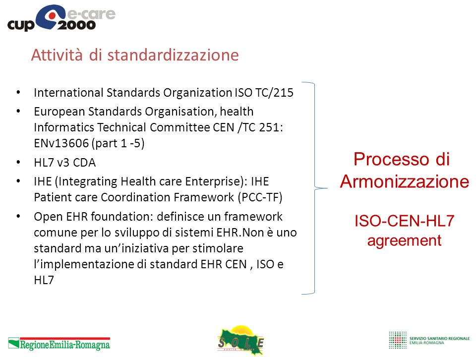 Attività di standardizzazione