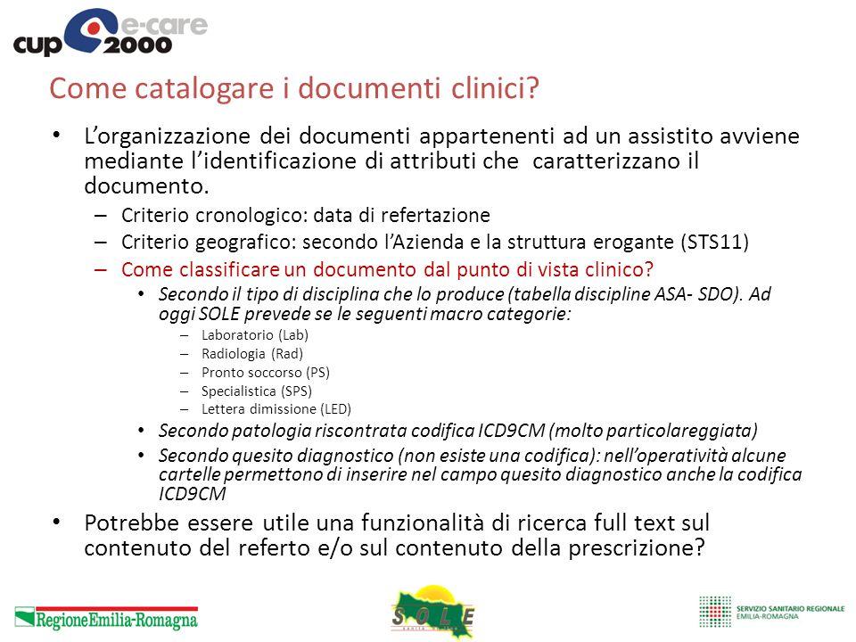 Come catalogare i documenti clinici