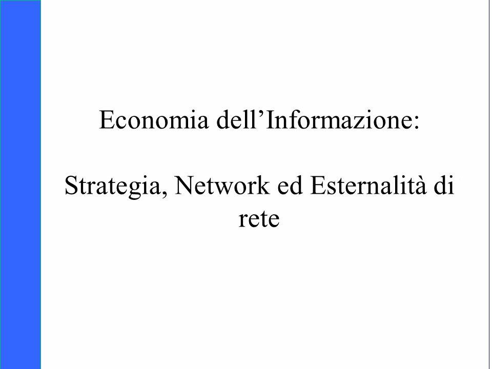 Economia dell'Informazione: Strategia, Network ed Esternalità di rete