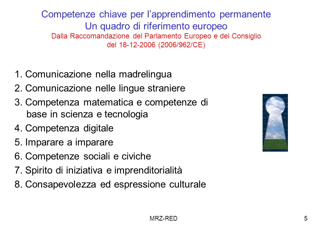 1. Comunicazione nella madrelingua