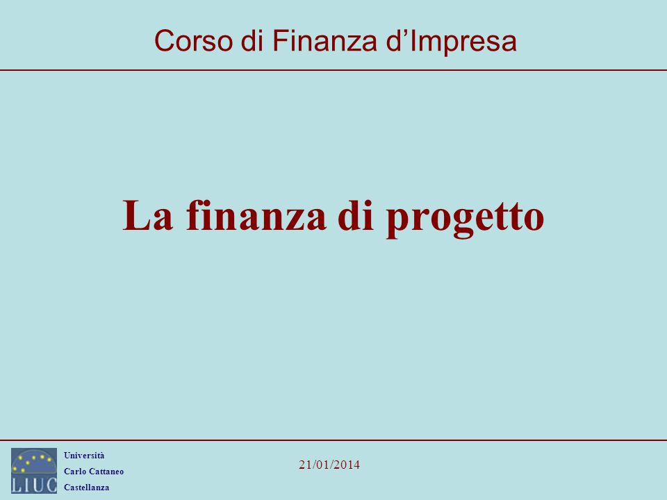 Corso di Finanza d'Impresa