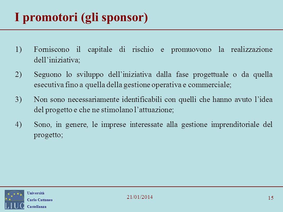 I promotori (gli sponsor)