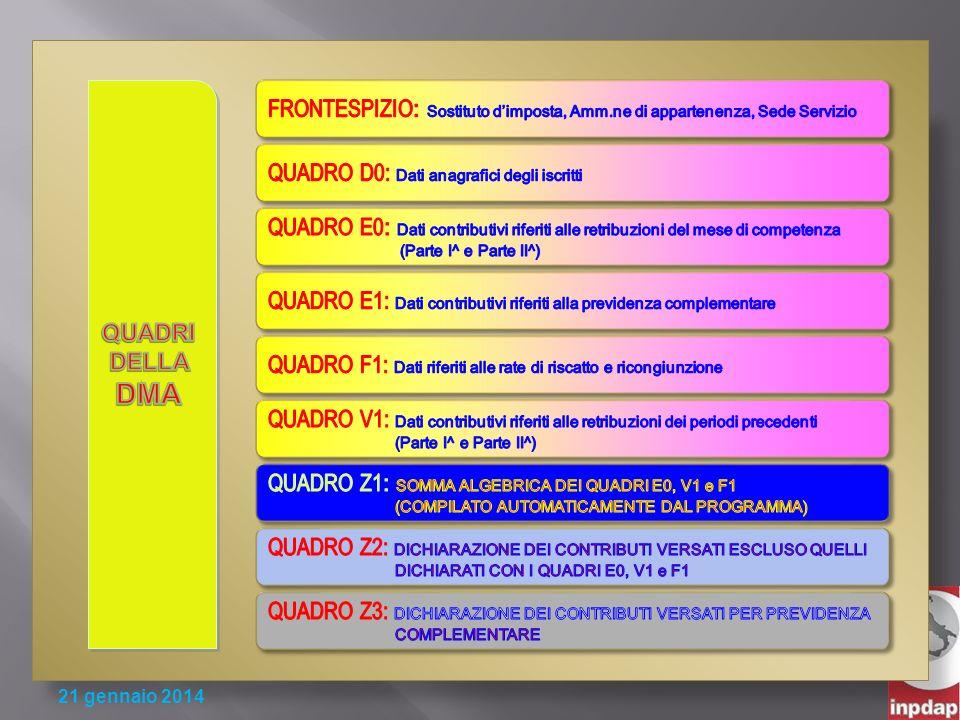 QUADRO D0: Dati anagrafici degli iscritti