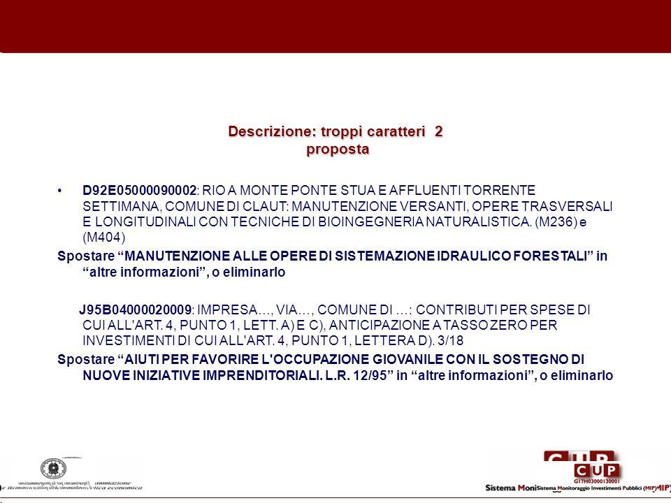 Descrizione: troppi caratteri 2 proposta