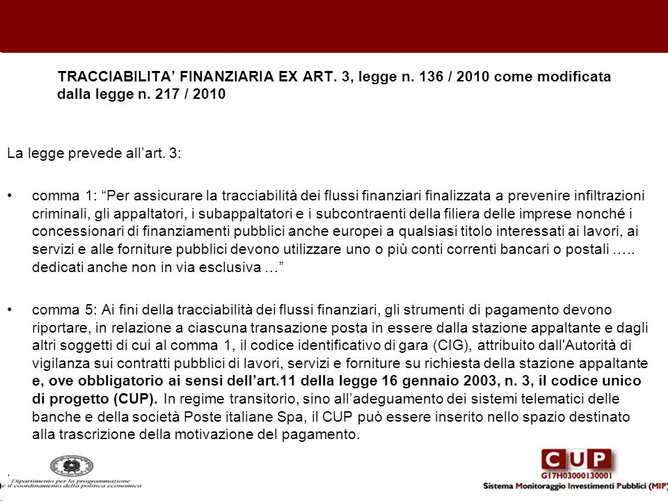 La legge prevede all'art. 3: