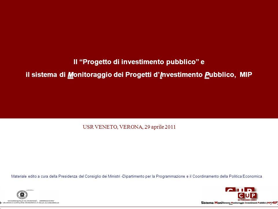 Il Progetto di investimento pubblico e