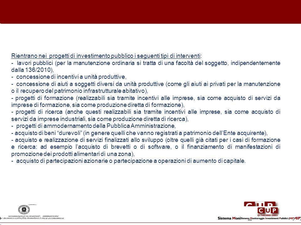 - concessione di incentivi a unità produttive,