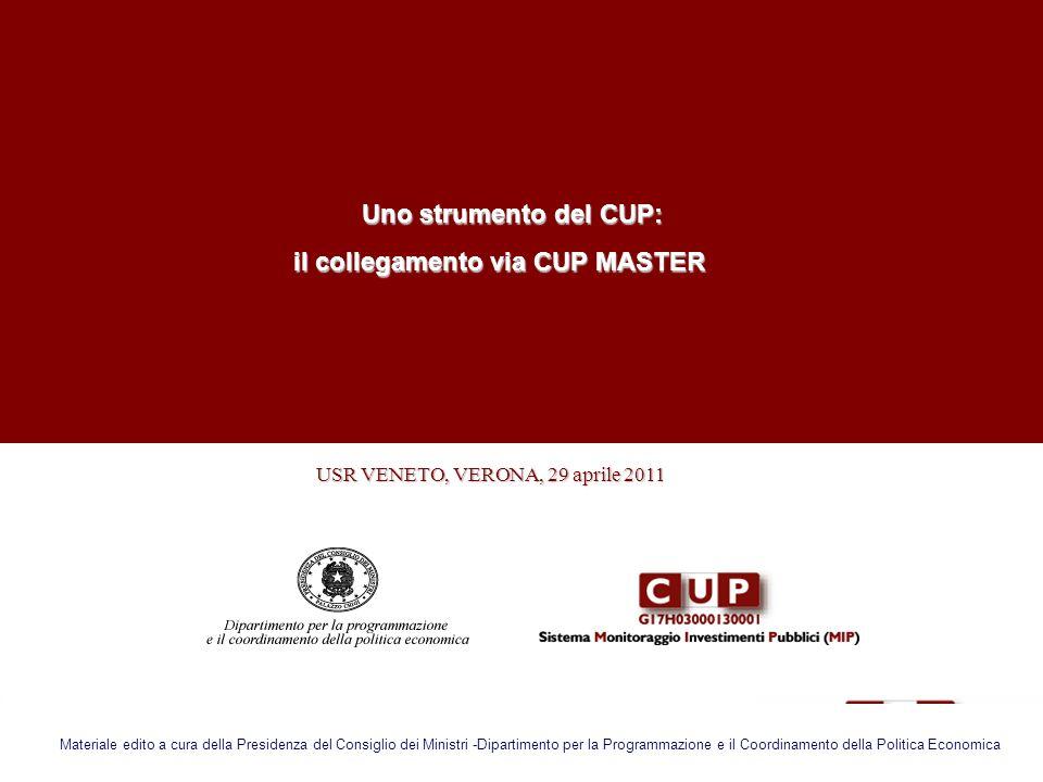 il collegamento via CUP MASTER