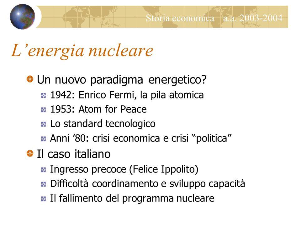 L'energia nucleare Un nuovo paradigma energetico Il caso italiano