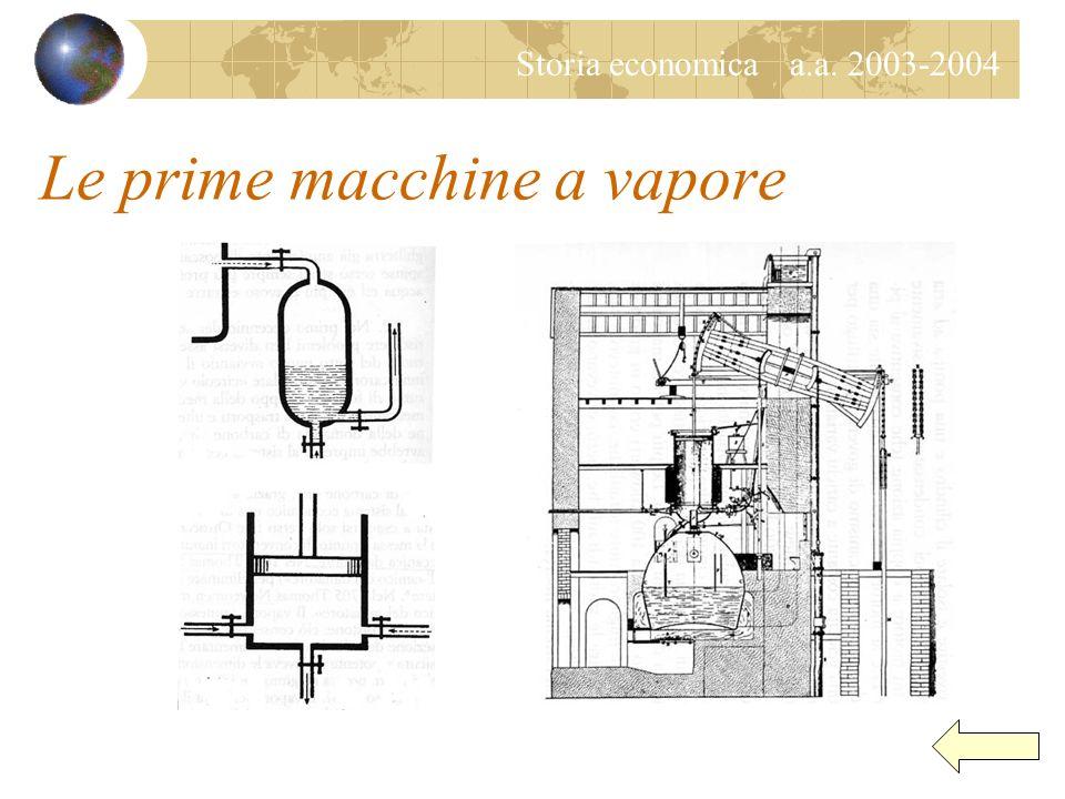 Le prime macchine a vapore