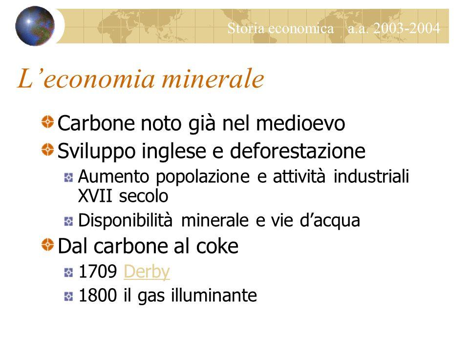 L'economia minerale Carbone noto già nel medioevo