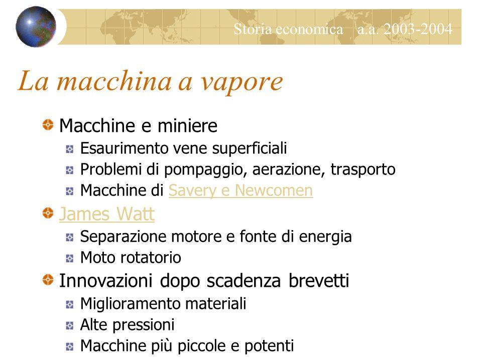 La macchina a vapore Macchine e miniere James Watt