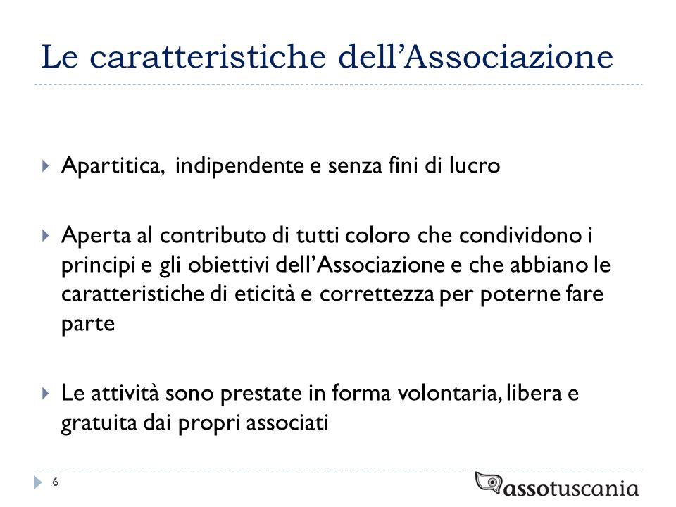 Le caratteristiche dell'Associazione