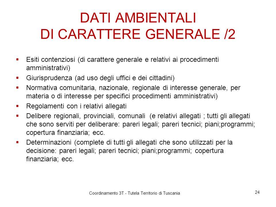 DATI AMBIENTALI DI CARATTERE GENERALE /2