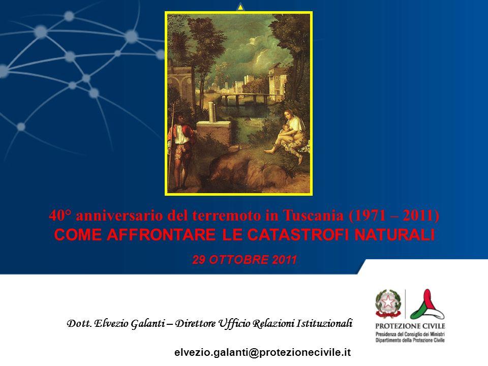 40° anniversario del terremoto in Tuscania (1971 – 2011)
