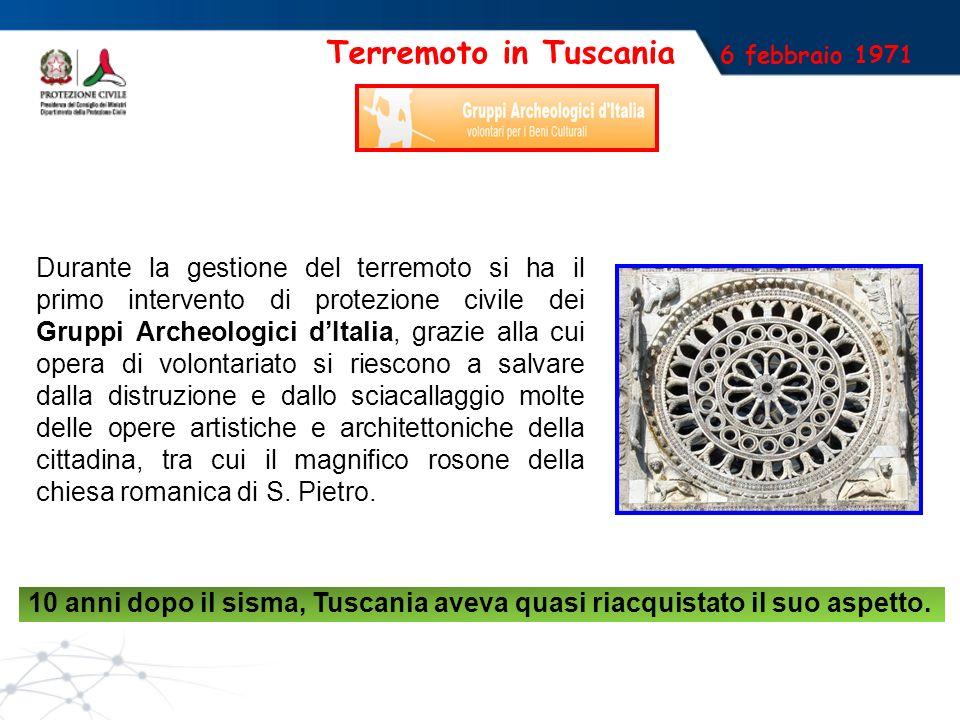Terremoto in Tuscania 6 febbraio 1971