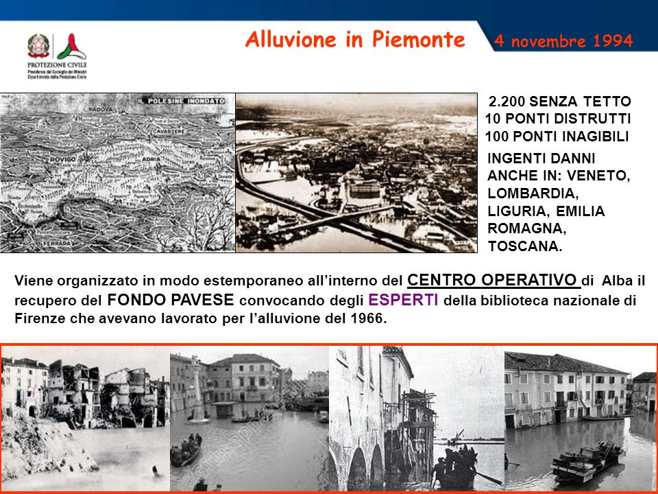 Alluvione in Piemonte 4 novembre 1994