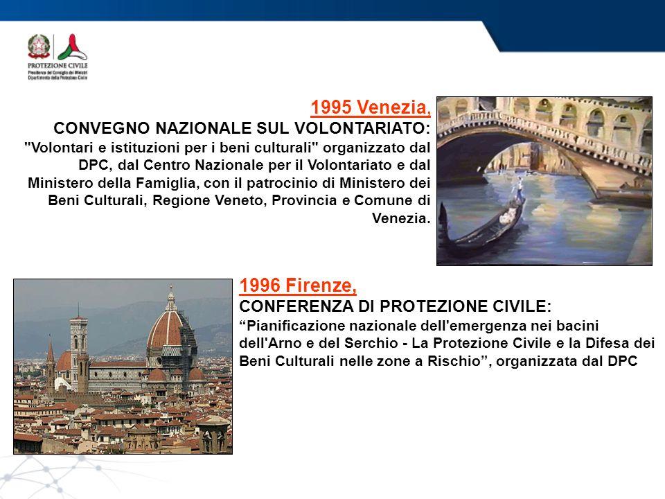 1995 Venezia, 1996 Firenze, CONVEGNO NAZIONALE SUL VOLONTARIATO: