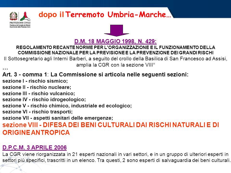 dopo il Terremoto Umbria-Marche…