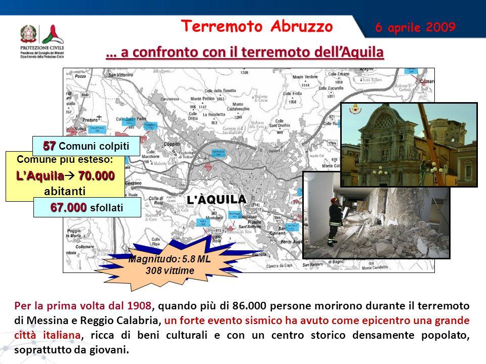 … a confronto con il terremoto dell'Aquila