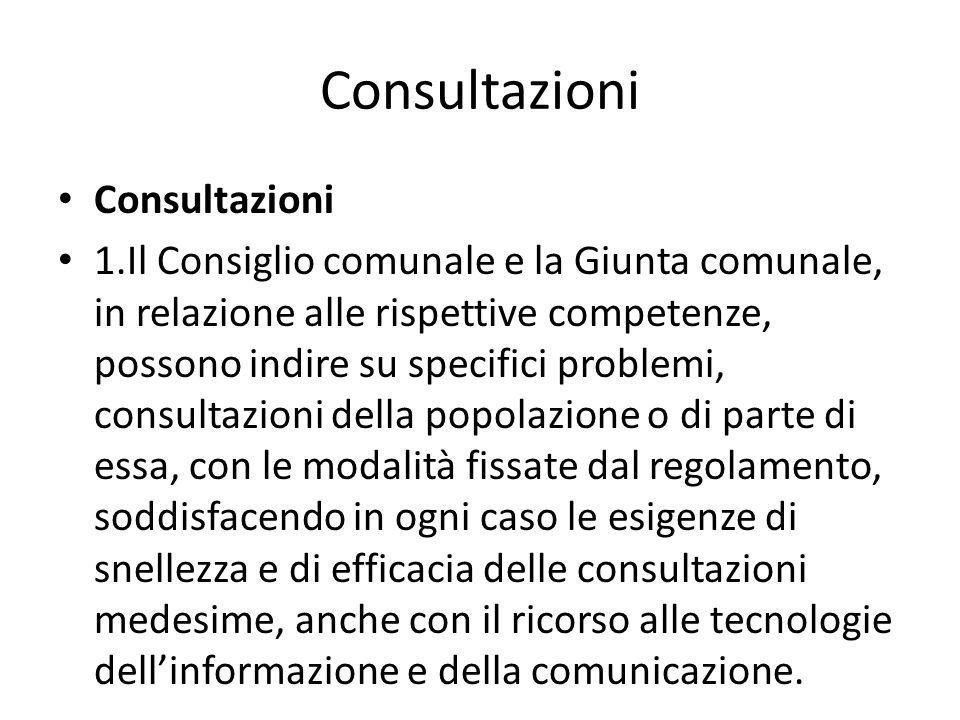 Consultazioni Consultazioni