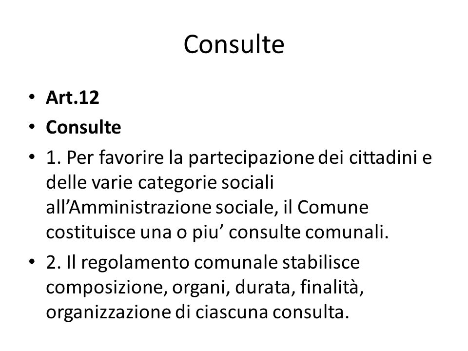 Consulte Art.12. Consulte