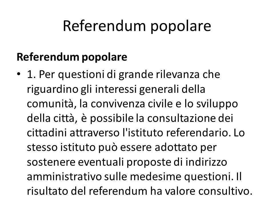 Referendum popolare Referendum popolare