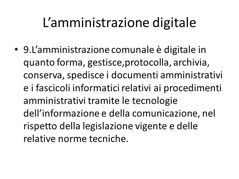L'amministrazione digitale