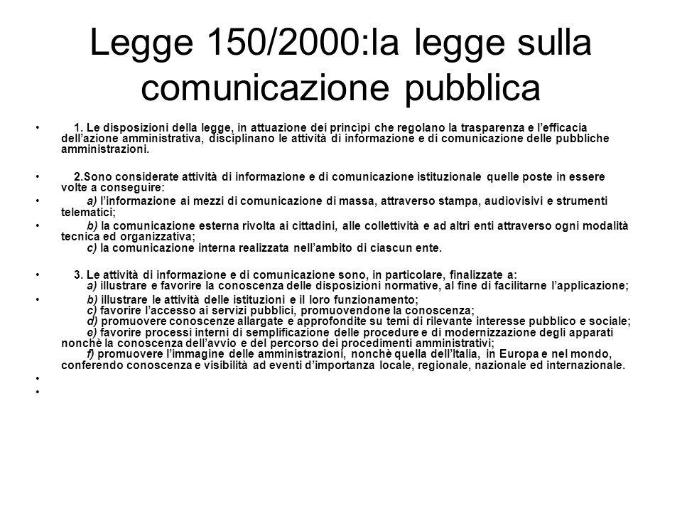 Legge 150/2000:la legge sulla comunicazione pubblica